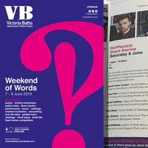 Victoria Baths Weekend of Words leaflet